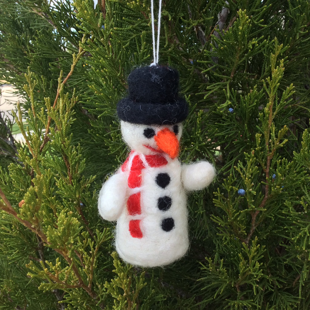 Felt Snowman Holiday Ornament