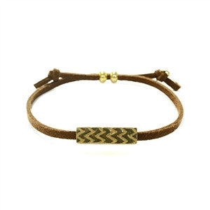 Braided Leather Bracelet with Charm