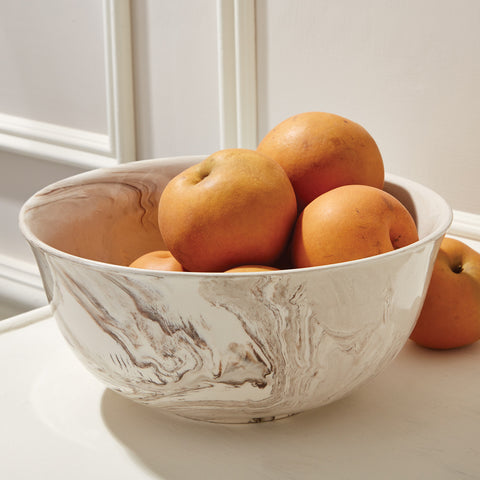 Large Marbleized Porcelain Bowl