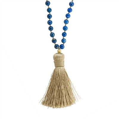 Lapis Lazuli Long Beaded Necklace