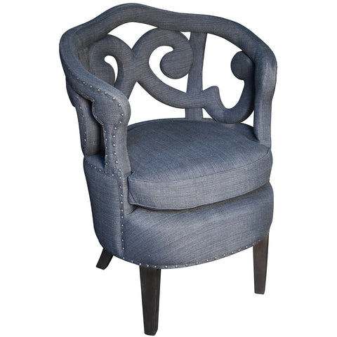 Scroll Upholstered Chair