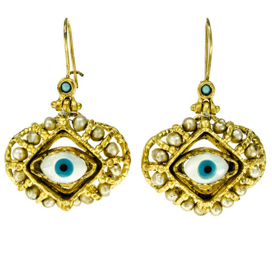 Guarded Beauty Nazar Earrings Handmade Istanbul