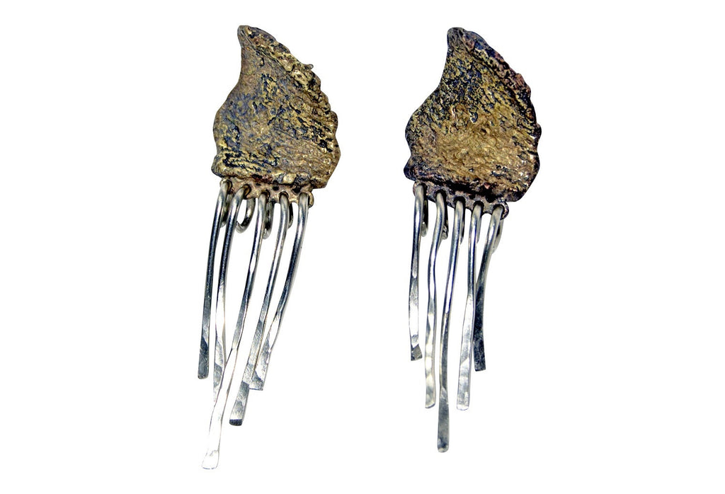 reclaimed Brass Fringe Earrings