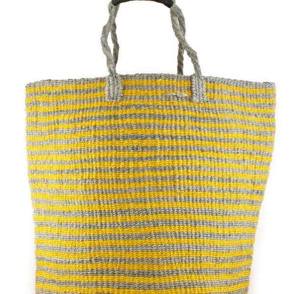 Oversized Gray & Yellow Bag