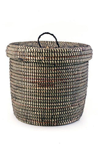 Black Lided Storage Basket