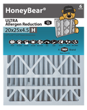 "20x25x4.5 ""H"" HoneyBear® MERV 13 ULTRA Allergen Reduction Air Filter (Pack of 2)"