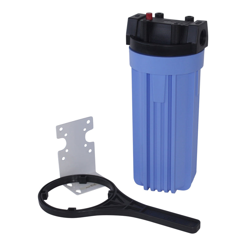 "Pentek Filter Housing 10"" w/ 3/4"" Caps BLUE #150067"