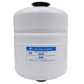 "PAE 2 Gallon Metal RO Tank - WHITE 1/4"" TKE-1200W"