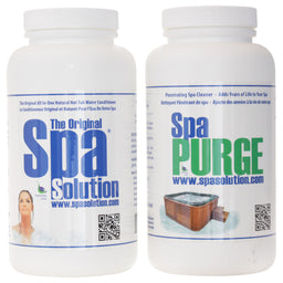 Spa Solution & Purge Hot Tub Conditioner 2 Pk Free Ship