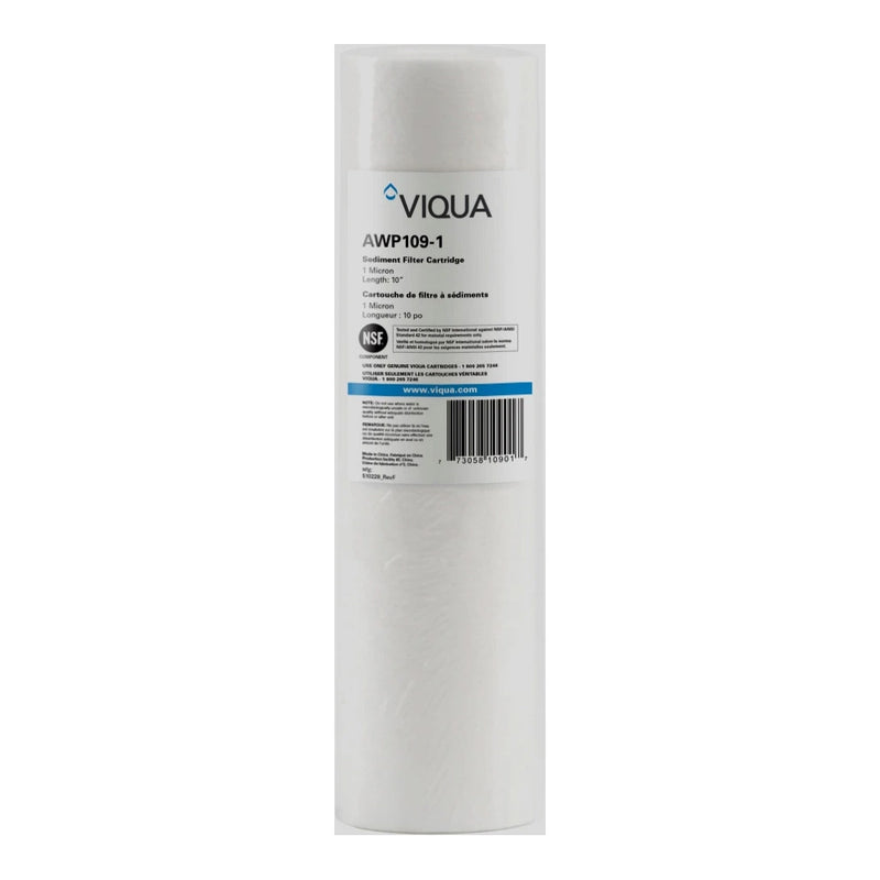 "Viqua 1 Micron Sediment Filter 9 7/8"" PP Part #AWP109-1"