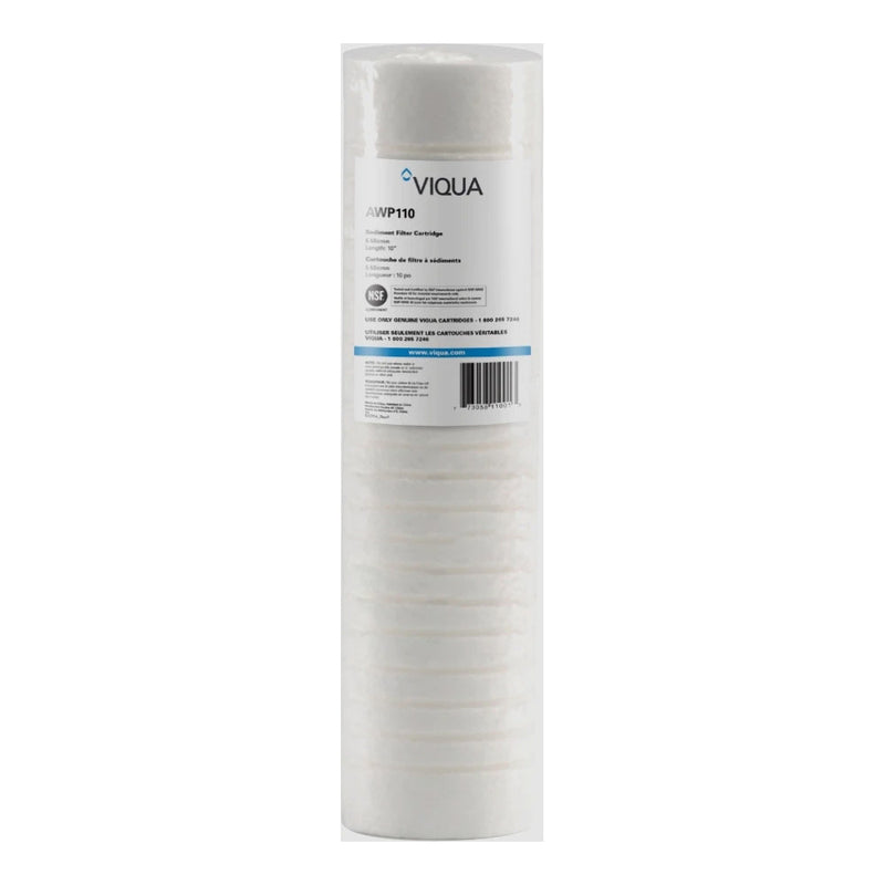 "Viqua 5 Micron Grooved Sediment Filter 9 7/8"" PP Part #AWP110"