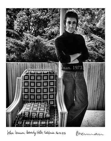 John Lennon on the Patio