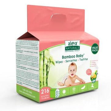 Aleva Bamboo Baby Wipes Value Pack - Sensitive 3x72 104330