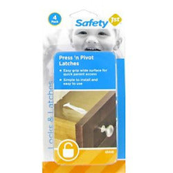 Safety 1st Pres N Pivot Latches 4pk 48446
