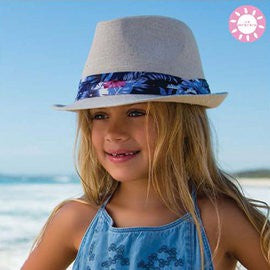 Sunsets Natural Millymook Girls Fedora Hat
