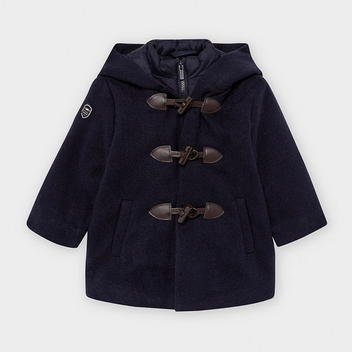Mayoral Hooded Duffel Coat - Navy blue 2488
