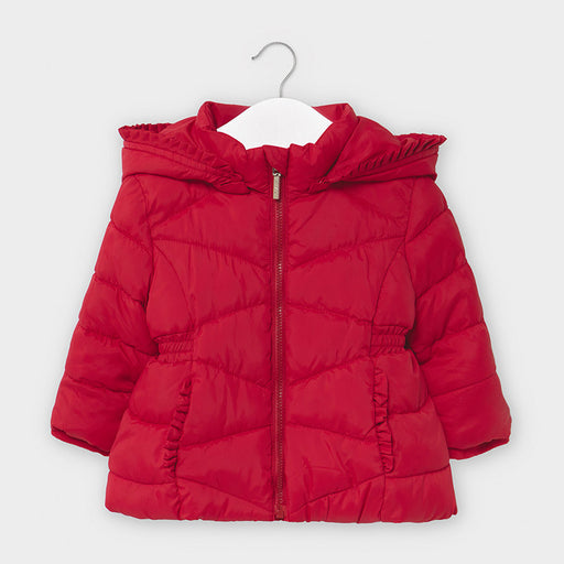 Mayoral Basic Padded Coat - Carmin Red 414