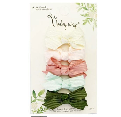 Baby Wisp Chelsea Bows Snap Clip - Bouquet 5pk BW1800