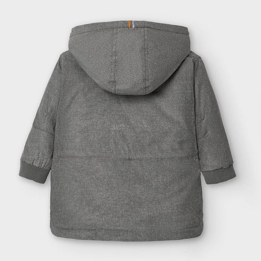Mayoral Baby Hooded Coat -  Graphite mix 2481