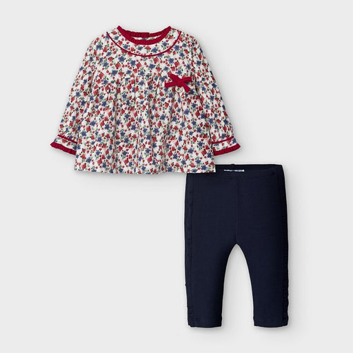 Patterned Chest /& Velour Shorts Mayoral Baby Boys Jumper Tights /& Shorts Set