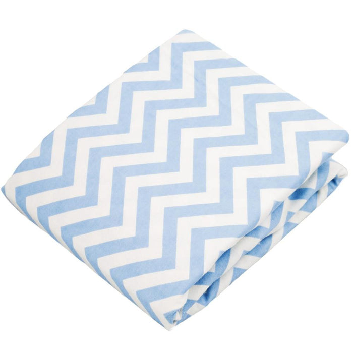 Kushies Fitted Crib Sheet Blue Chevron (S330-505)