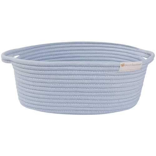Piccolo Bambino Cotton Rope Basket Large Blue PB916BY