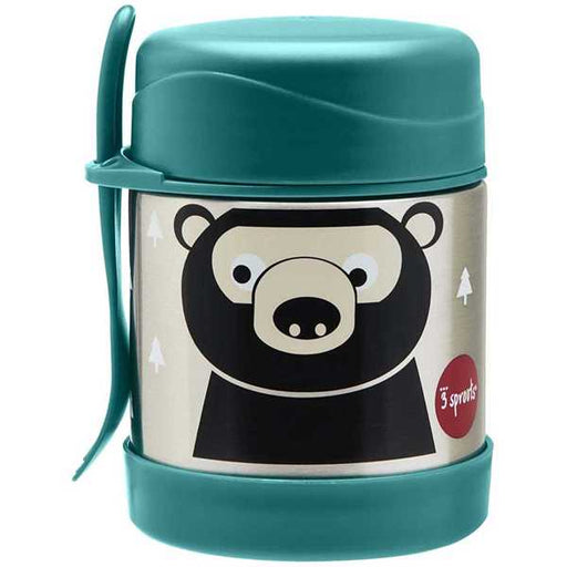 3 Sprout Stainless Steel Food Jar Teal Bear