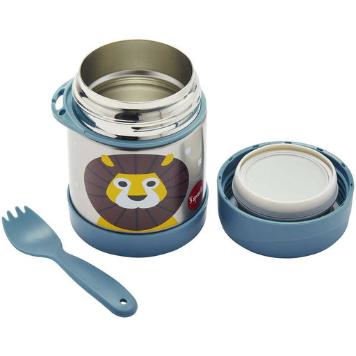 3 Sprout Stainless Steel Food Jar - Blue Lion