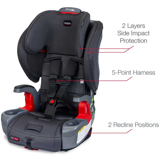 Britax Grow with you Click Tight Harness 2 Booster Seaglass