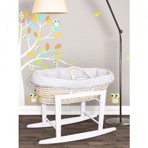 KidiComfort/Kidiway Wooden Bassinet Stand - White (Markham Pick-up Only)