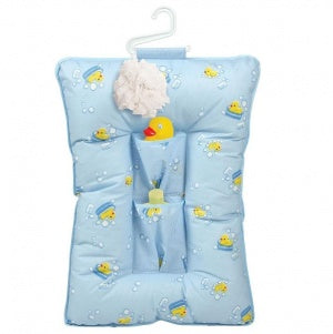 Leachco Comfy Caddy Baby Bather and Shower Caddy - Blue Ducks