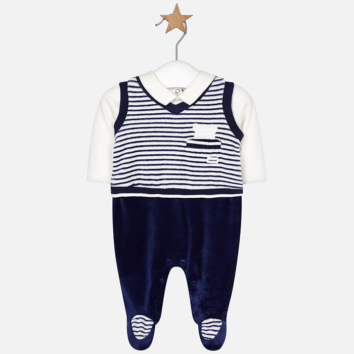 Mayoral Trousers Vest Romper Navy