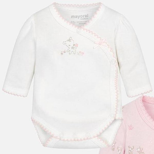 a1c53bd3f8e Mayoral Baby Bodys Rose White 1pk 2718