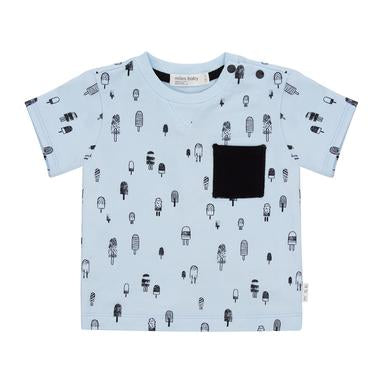 Miles Baby French Terry Tee - Popsicle Blue