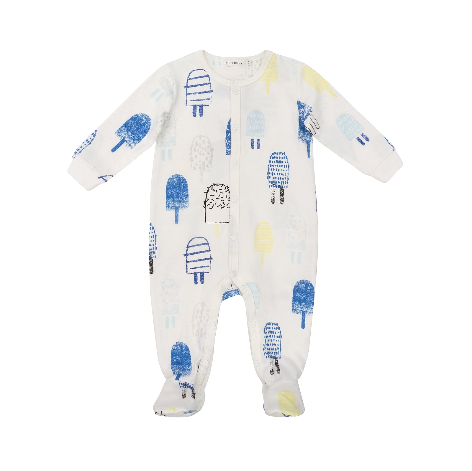 Miles Baby Boys Sleeper Knit Off White