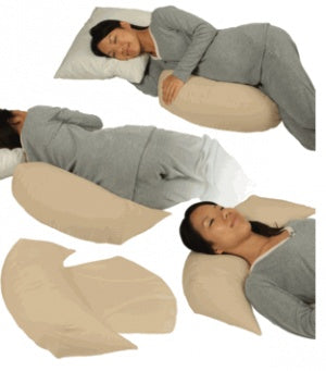 Leachco Belly Bumper Compact Side Sleeper Pillow -Ivory