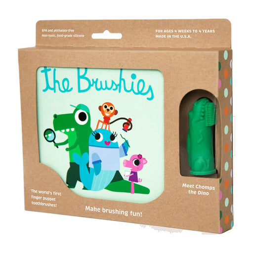 The Brushies Baby Storybook Toothbrush Puppet Dino