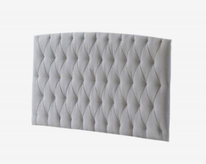 Natart Juvenile Bella Upholstered Headboard Panel - Linen Grey 725-P-L (MARKHAM INSTORE PICK-UP ONLY)