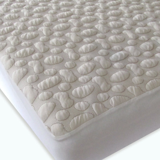 FortyWinks Pebble Puff Organic Cotton Mattress Protector