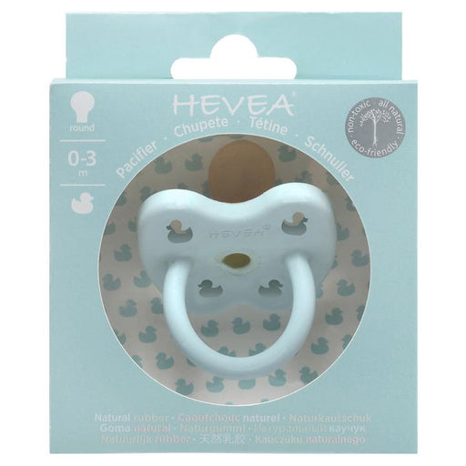 Hevea Pacifier Round Baby Blue 0-3M