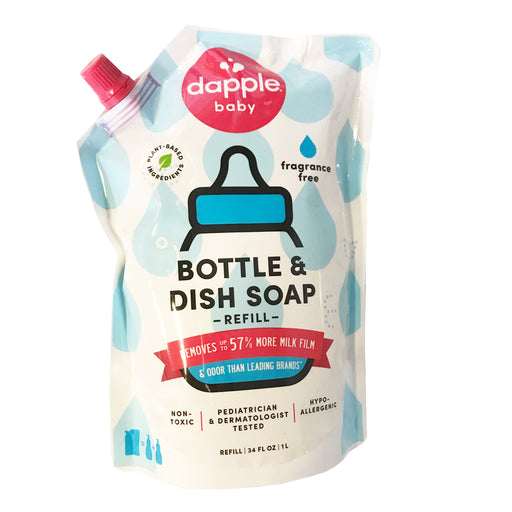 Dapple Pure N' Clean Bottle & Dish Liquid Refill Fragrance Free 34oz