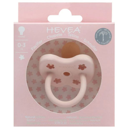 Hevea Pacifier Round Powder Pink 0-3M