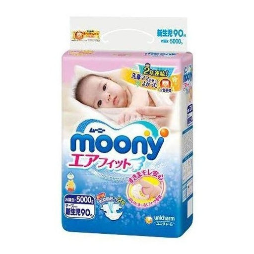 Moony Diaper Tape Style - NB (0-5kg 90pc)
