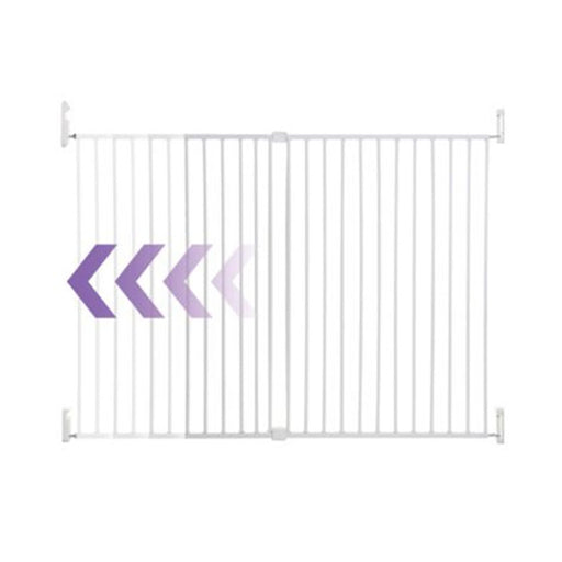 Dreambaby Broadway Xtra-wide & Xtra Tall Gro Gate White L2025BB