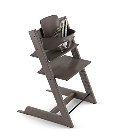 Stokke Tripp Trapp Highchair with Babyset & Harness Hazy Grey
