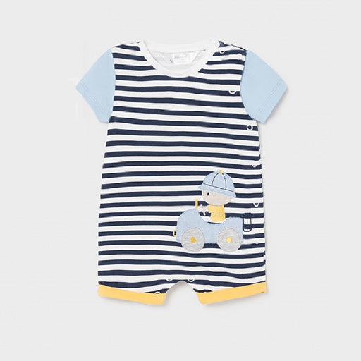 Mayoral Knitted Onesie Fresh Blue Striped 1631