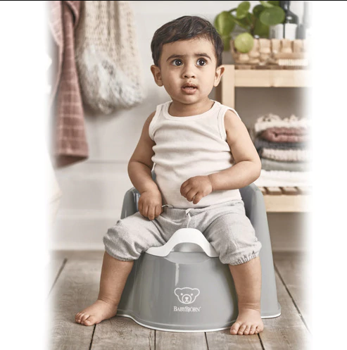 Baby Bjorn Potty Chair Grey/White