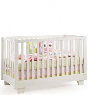 Kidiway Modern Collection 4-in-1 Convertible Crib - White (Ajax Pick-up Only)