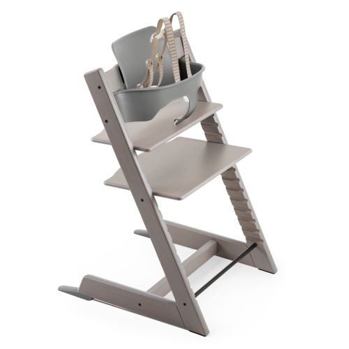 Stokke Tripp Trapp Highchair with Babyset & Harness Oak Greywash