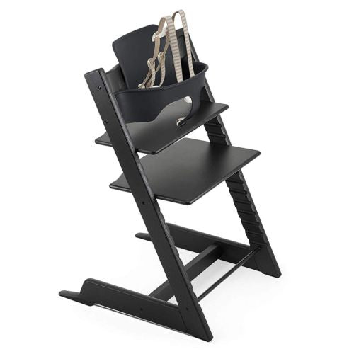Stokke Tripp Trapp Highchair with Babyset & Harness Oak Black